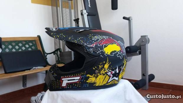 Capacete moto/motocross