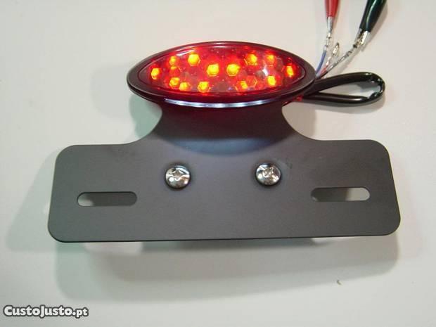 Farolim traseiro LED com suporte de matrícula