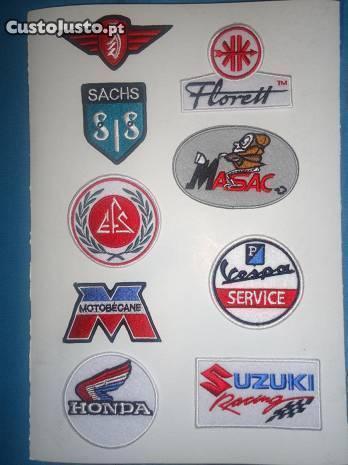 Patch bordado Vespa Sachs Honda Suzuki e outros