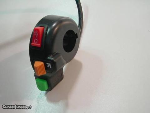 Comandos de guiador para luzes piscas e buzina