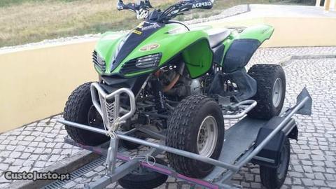 Moto4 Kawasaki KFX 700 e atrelado basculante Tonia