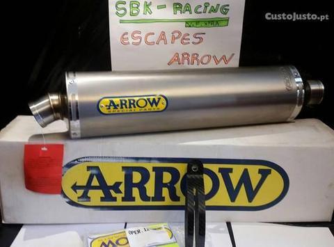 Motos estrada- -Escape Arrow R-tech titânio